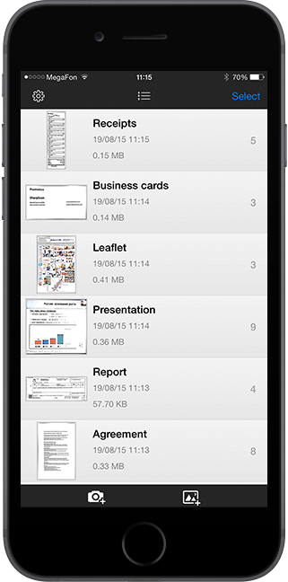Turn your iPhone into jet fast document scanner with SharpScan